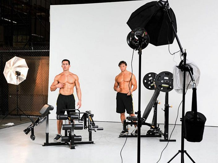 Behind the Scenes of Powertec 2011 Catalogue Shoot with Fitness Model Ian Lauer